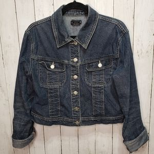 Bebe Denim Jean Jacket Size Large.